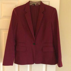 Deep red blazer for women
